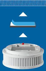 Jung-Rauchwarnmelder mit zertifiziertem Magnet-Klebe-System