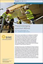 """BINE-Projektinfo """"Phasenübergang speichert Wärme"""" (16/2012)"""