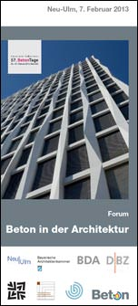 """57. BetonTage: """"Beton in der Architektur"""""""