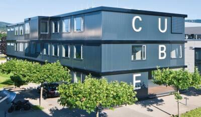"""""""Cube"""": Container-Bürogebäude für HUGO BOSS"""