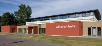 ürzbachhalle, eine Sport- und Mehrzweckhalle im saarländischen Blieskaste