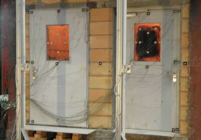 einbruch- und durchschusshemmende Stahltür