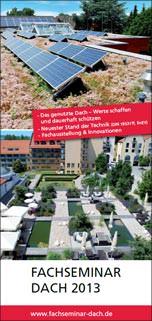 Fachseminar Dach 2013 Flyer
