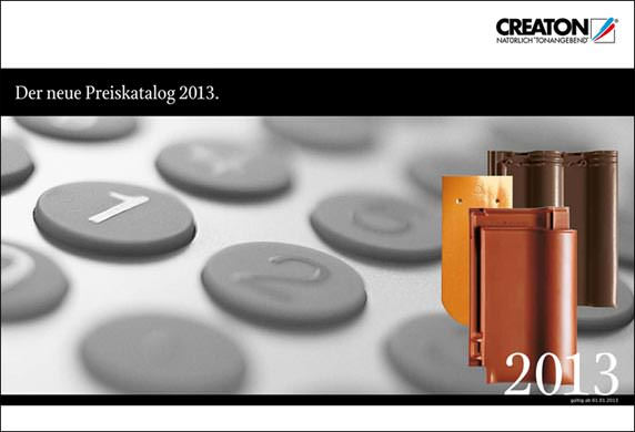Creaton-Preiskatalog 2013