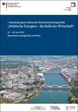 """""""Rolle der Wirtschaft in der Stadt"""" beim 7. Bundeskongress Nationale Stadtentwicklungspolitik"""