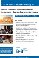 Flyer zum 16. SSB Bauschadenstag