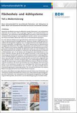 BDH-Infoblatt Nr. 51: Flächenheiz- und -kühlsysteme, Teil 2: Modernisierung