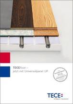 """Broschüre """"TECEfloor-Universalpanel Technische Information"""""""
