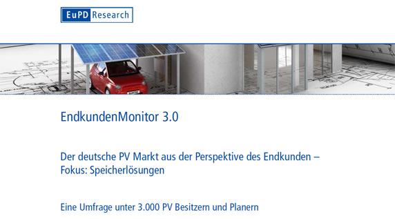 EndkundenMonitor 3.0- Der deutsche PV Markt aus der Perspektive des Endkunden- Fokus: Speicherlösungen