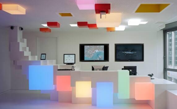 """Google-Foyer in Hamburg - Kategorie """"Öffentliche Bereiche / Innenraum"""", Foto: Oliver Heissner"""