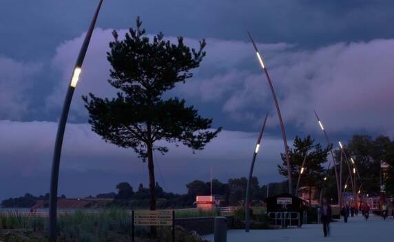 """Strandpromenade Niendorf - Kategorie """"Aussenbeleuchtung"""", Foto: Leipziger Leuchten"""