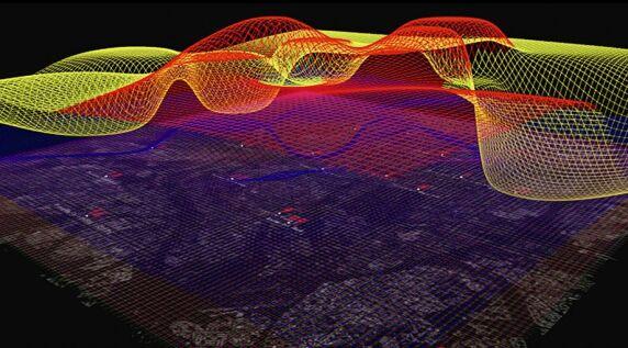 """""""In the Air"""", Visualisierung unsichtbarer Mikrobestandteile der Luft, Medialab-Prado, S. 232 © intheair.es"""