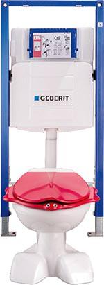 WC-Montageelement für kindgerechte Sanitäranlagen neu von Geberit