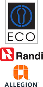 Logos von ECO Schulte, Randi, Allegion
