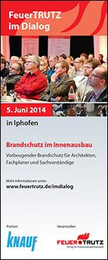 FeuerTRUTZ und Knauf im Dialog: Brandschutz im Innenausbau