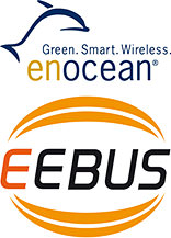 Logos von EEBus Initiative und EnOcean Alliance
