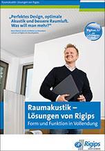 """Broschüre """"Raumakustik- Lösungen von Rigips"""""""