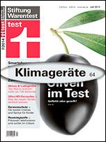 Cover der Juli 2014-Ausgabe der Zeitschrift test