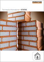 Statikhandbuch zur Tragwerksplanung mit Poroton-Ziegeln