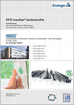 Environmental Product Declaration (EPD) des ift Rosenheim