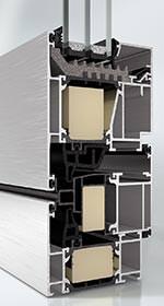 Schwing- und Wendeflügel aus der Aluminium Profilkonstruktion AWS 75.SI+