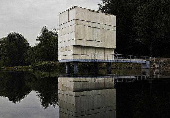 Zielturm Rotsee von Architekten ETH BSA SIA AG <br/> Foto: Valentin Jeck