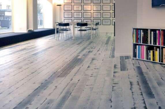 ADC Office & Gallery, Zürich, Bauwerk Parkett Trendpark Vintage Edition, Eiche, Stone, matt versiegelt © Bauwerk Parkett AG