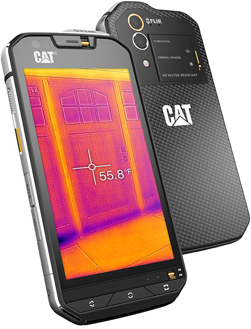 Cat S60: Baustellen-Smartphone mit integrierter Flir-Wärmebildkamera
