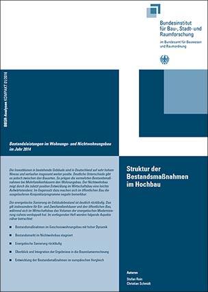 """Studie """"Struktur der Bestandsmaßnahmen im Hochbau"""""""
