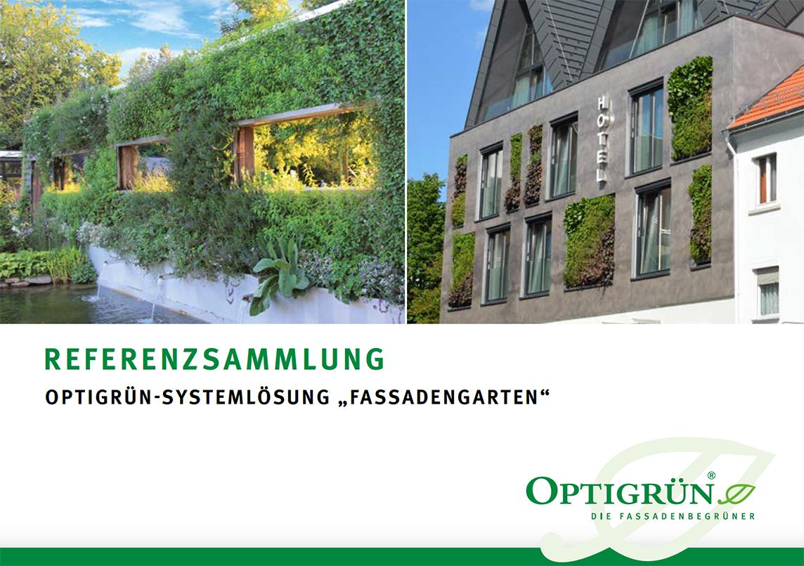 Referenzsammlung von Optigrün zur Fassadenbegrünung