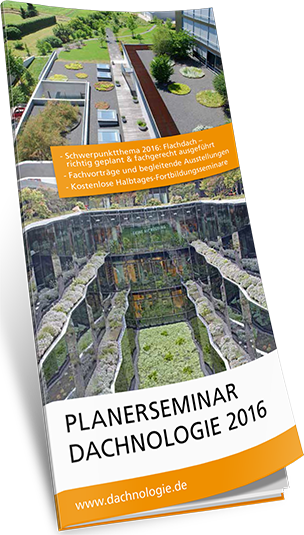 """Planerseminar """"Dachnologie"""" 2016"""" mit Derbigum, Franken-Systems, Jackon Insulation, Optigrün und Sita"""
