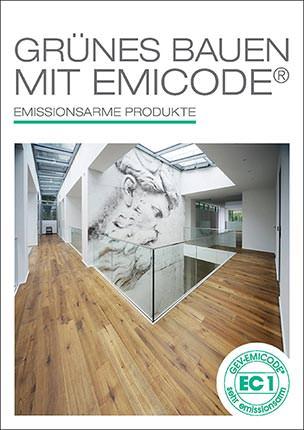 """Broschüre """"Grünes Bauen mit dem EMICODE- emissionsarme Produkte"""""""