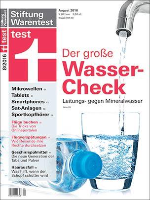 großer Wasser-Check der Stiftung Warentest