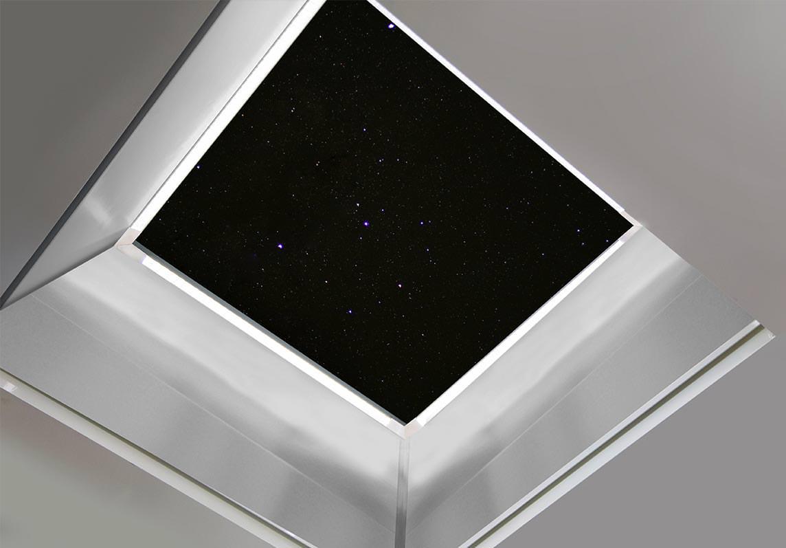Flachdachfenster Lamilux CI-System Prismen-LED/Reflective