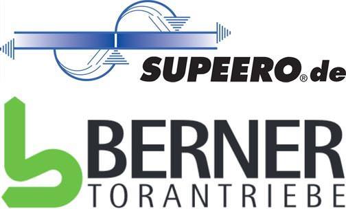 Logos von Berner Torantriebe KG und Supeero-Systeme GmbH