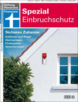 """Finanztest Spezial """"Einbruchschutz"""" der Stiftung Warentest"""