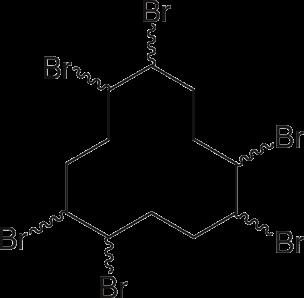 Strukturformel von Hexabromcyclododecan
