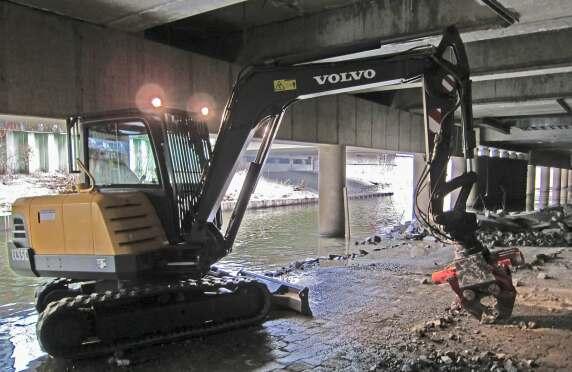 Insgesamt wurden über 1.000 Tonnen an schadhaftem Beton abgetragen und entsorgt. © Koch GmbH