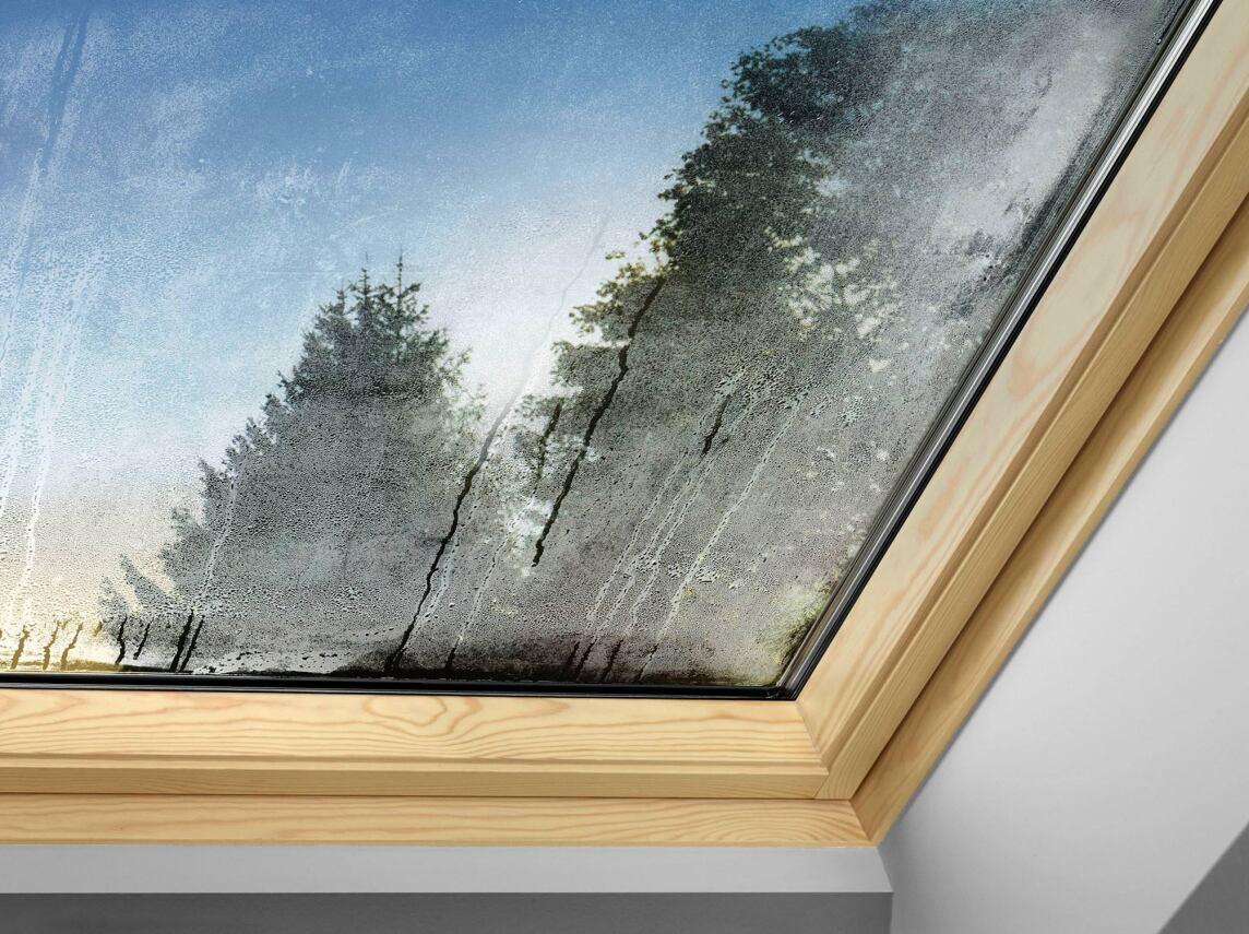 beschlagenes Dachfenster